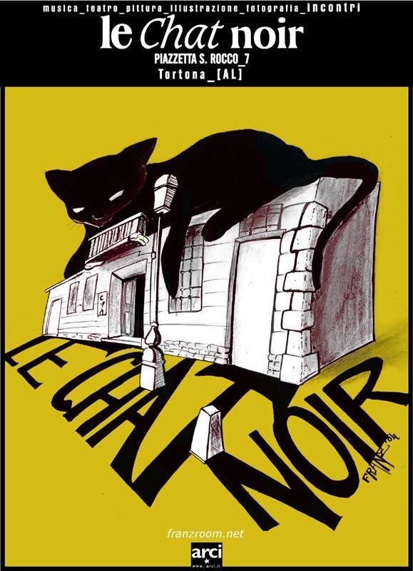 Chat Noir Flyer, franzRoom.net
