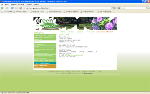 Green Service website