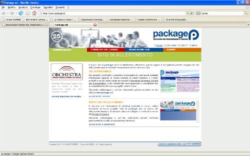 Package Sistemi website