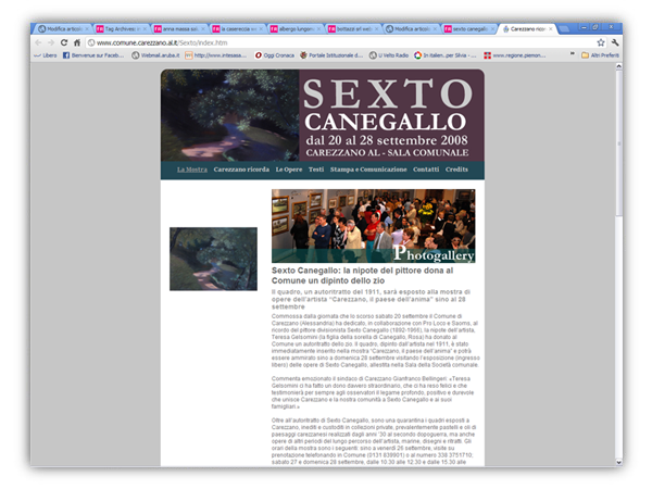 <em>Sexto Canegallo</em> website
