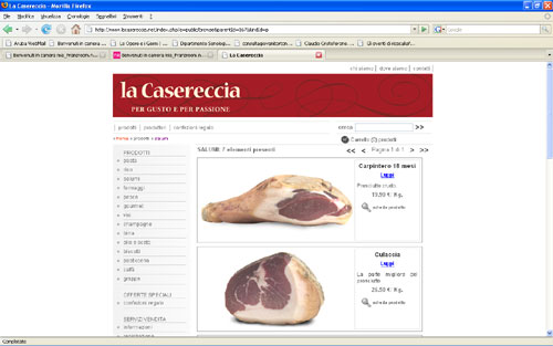 <em>La Casereccia</em> website