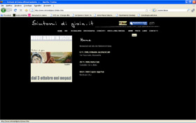 <em>Sintomi di Gioia</em> website