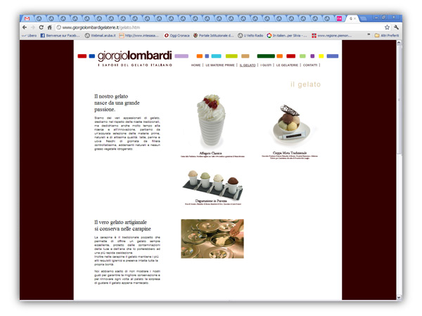 gelaterie lombardi website