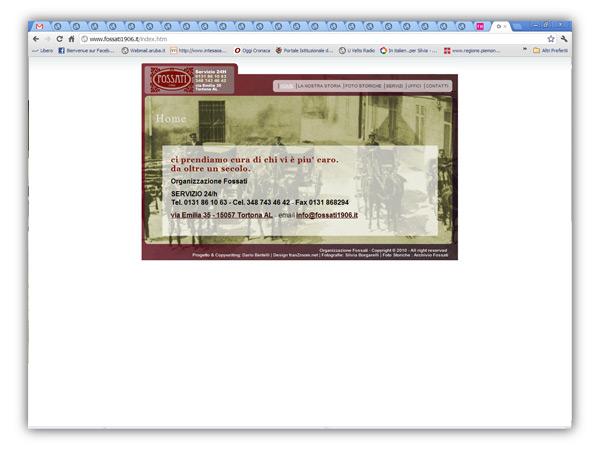 Fossati Tortona website- design e sviluppo franzroom.net