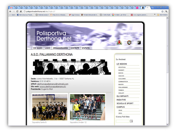 Polisportiva Derthona website
