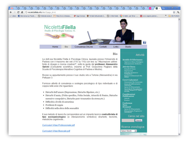 nicoletta filella website-design e sviluppo franzroom.net