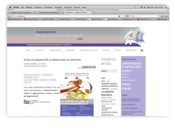 associazione Franca Cassola Pasquali website by franzRoom.net
