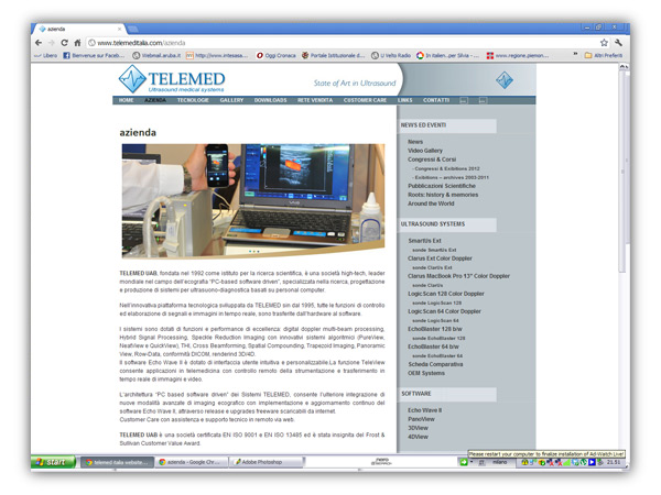 <em>Telemed Italia</em> website