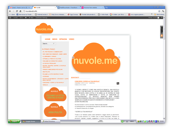 <em>Nuvole.me</em>  website
