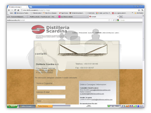 distilleria scardina website by franzRoom.net