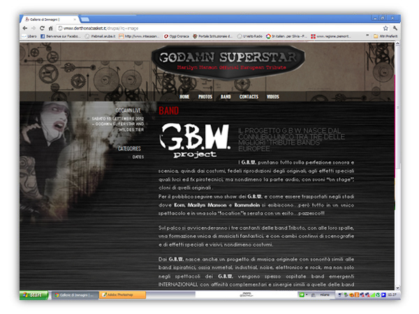 <em>Godamn Superstar</em> website