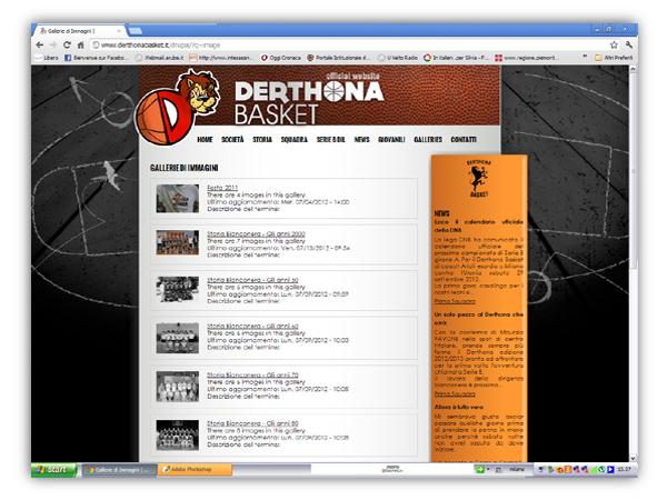 Derthona Basket - webdesign by franzRoom.net
