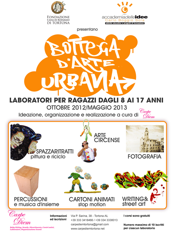 Bottega d'Arte Urbana, Laboratori di writing ed animazione