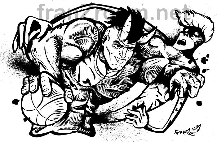 illustrazione Street Basket Andrea Franzosi franzRoom.net