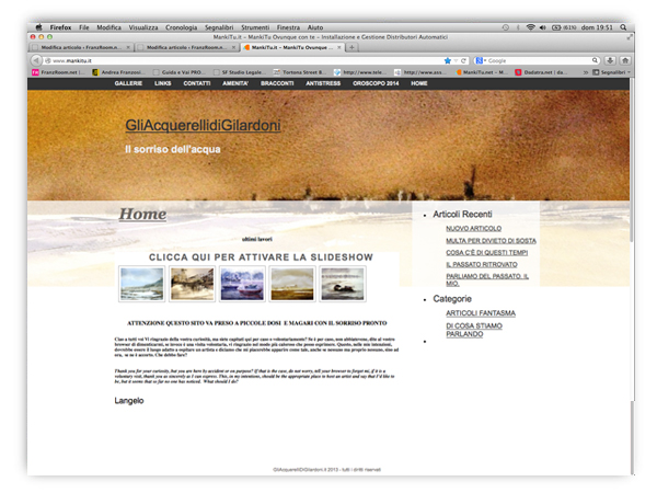 <em>Angelo Gilardoni</em> website