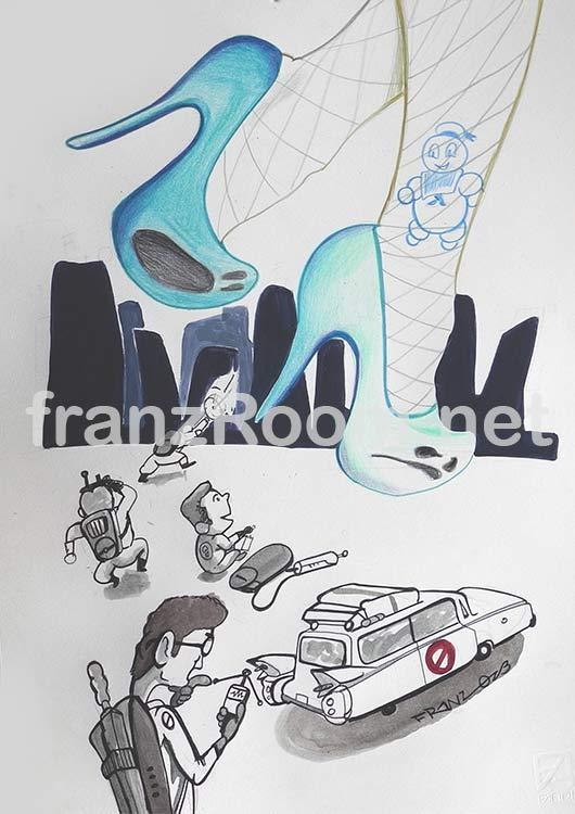 illustraScarpe GhostBusterS - Andrea Franzosi franzroom.net