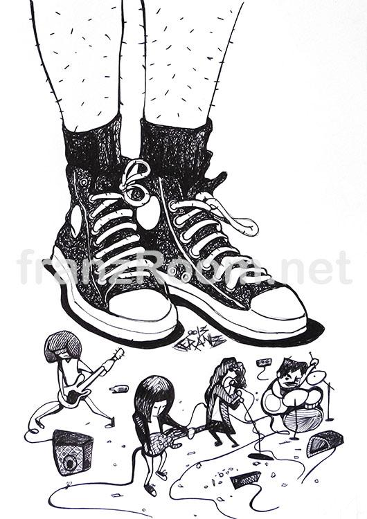 illustraScarpe The Ramones - Andrea Franzosi franzroom.net