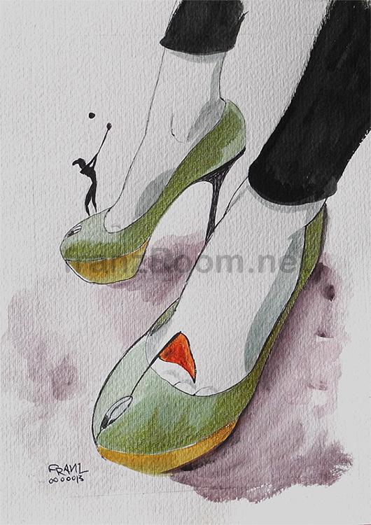 illustraScarpe il Grande Gatsby - Andrea Franzosi franzroom.net