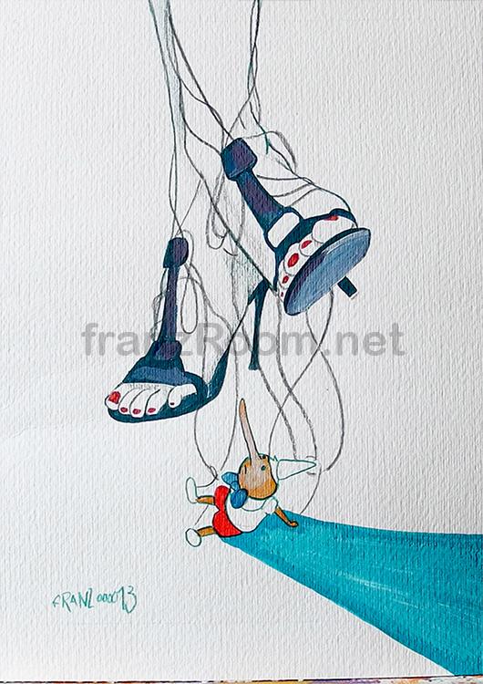 illustraScarpe pinocchio - Andrea Franzosi franzroom.net