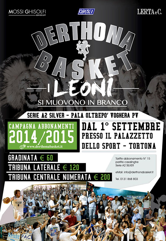 Derthona Basket - flyer abbonamenti by franzRoom.net