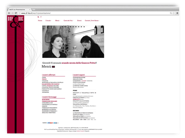 Dop and Doc Tortona website by franZroom.net