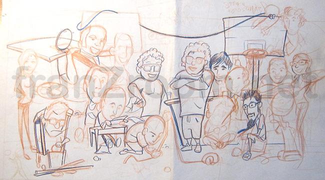 franzRoom.net - illustrazione Staff Armana - bozzetto