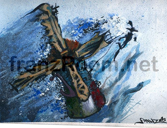 Ashpipe illustration, Don Chisciotte - Andrea Franzosi - franzRoom.net