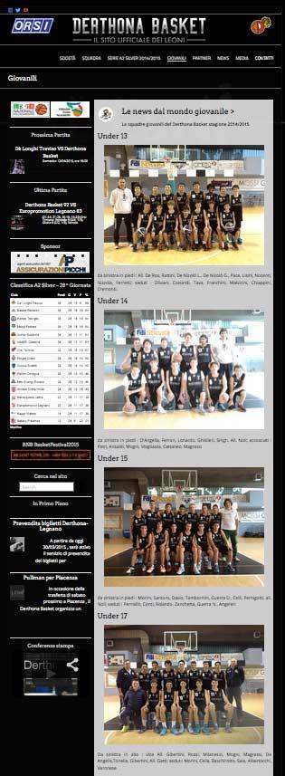 Derthona Basket - website 2014-15 by Andrea Franzosi, franzRoom.net