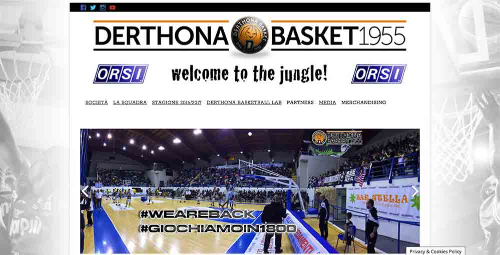 Derthona Basket - website 2016-17 by Andrea Franzosi, franzRoom.net