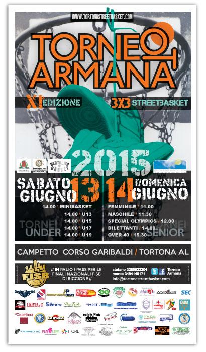 Torneo Armana 2015 - Locandina Ufficiale franZroom.net
