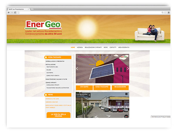 EnerGeo website by franZroom.net