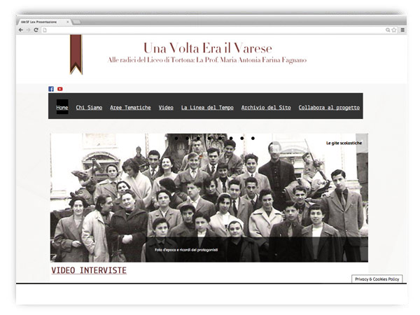 Era Il Varese website by franZroom.net
