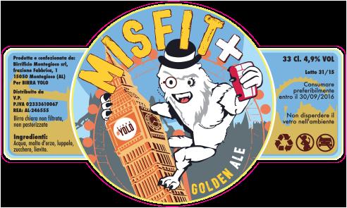 Misfit Golden Ale - Etichetta di Andrea Franzosi, franzRoom.net