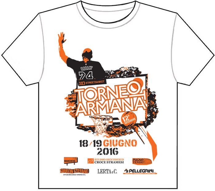 Torneo Armana 2016 - design maglietta, Andrea Franzosi franzRoom.net