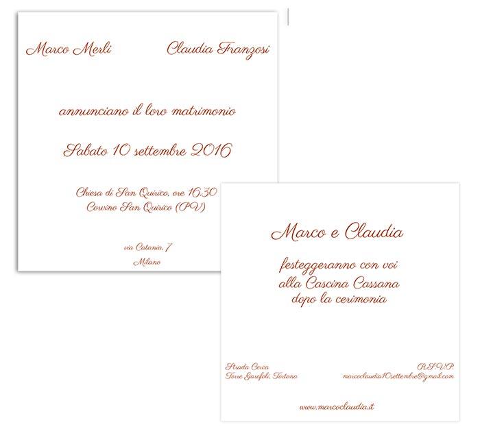 clArco inviti matrimonio