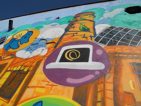 Ex Fonderia Castelli - Dettagli decorazione a spray - Andrea Franzosi franZroom.net