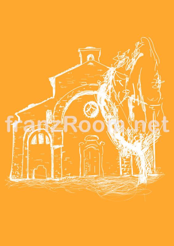 Abbazia di Rivalta, illustrazione franzRoom.net