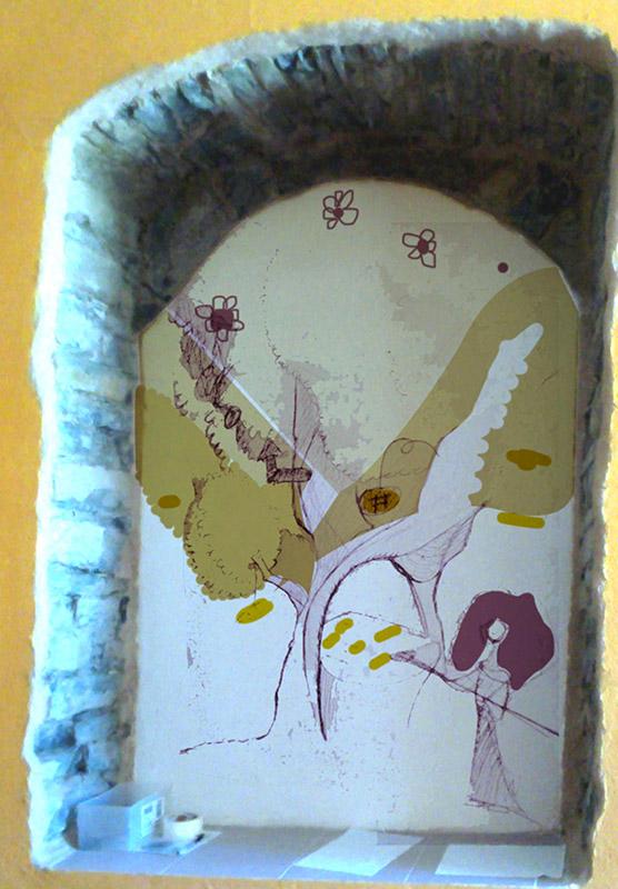 bozzetto decorazione Albero del Pane, Cuore di Pane