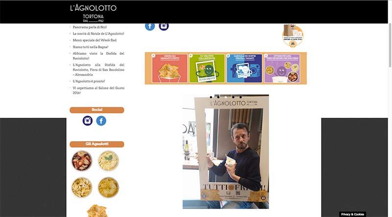 Agnolotto Tortona - website by Andrea Franzosi, franZroom.net