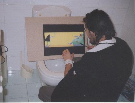 2004 franZ al cesso rivede la TV ViolentA