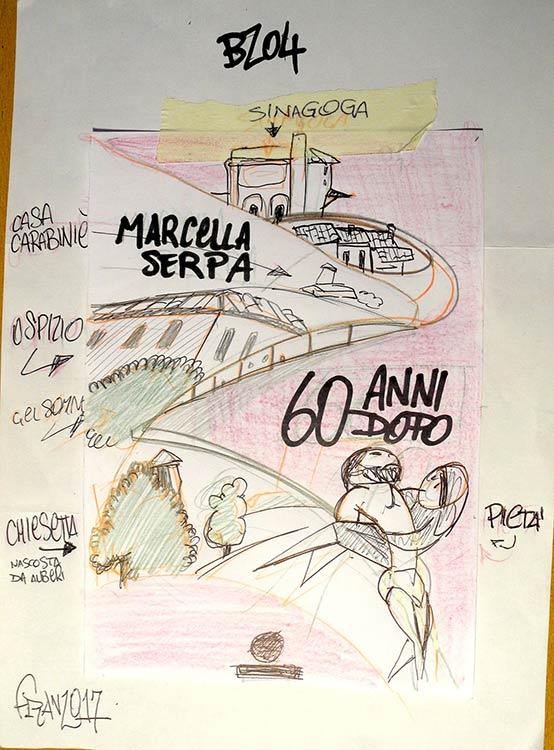 Bozzetto Cover Marcella Serpa - Andrea Franzosi. franzRoom.net