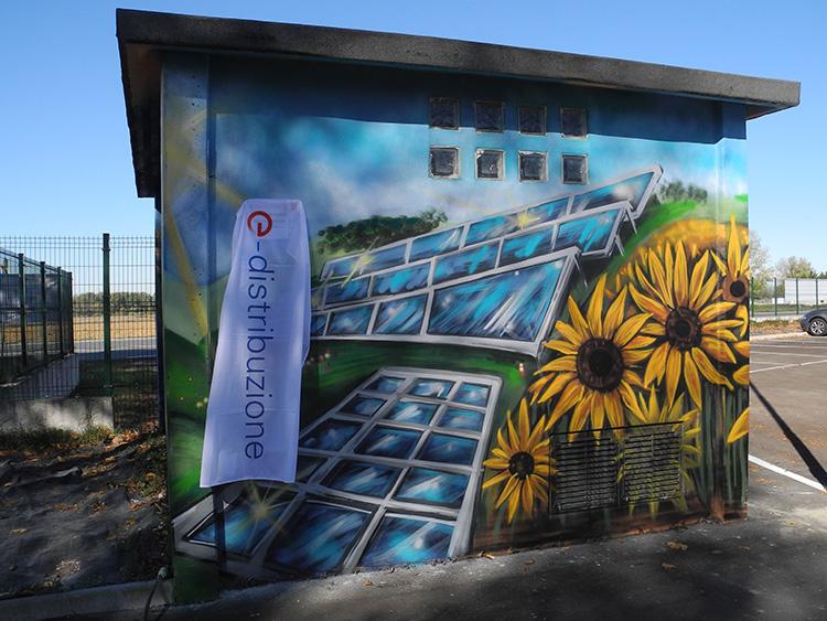 Inaugurazione Cabina ENEL decorata da Andrea Franzosi - franZroom.net