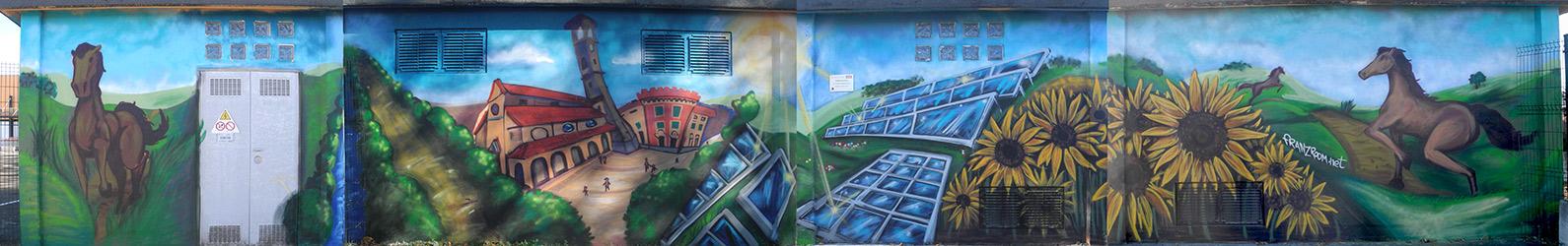 decorazione Cabina Enel a Capriata d'Orba - Andrea Franzosi, franZroom.net