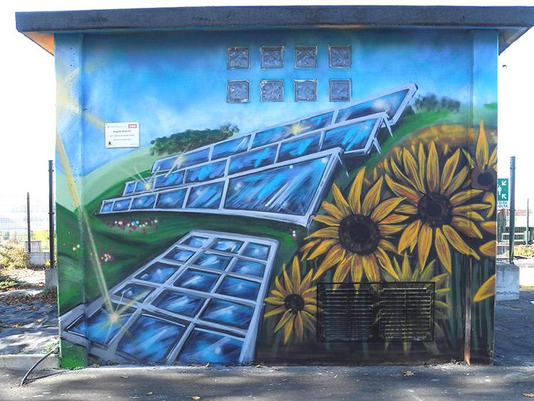 Decorazione su cabina Enel a Capriata d'Orba - Andrea Franzosi, franZroom.net