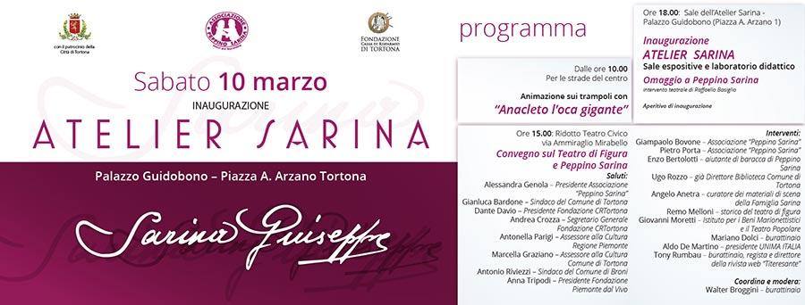 Atelier Sarina - grafica inaugurazione - franZroom.net