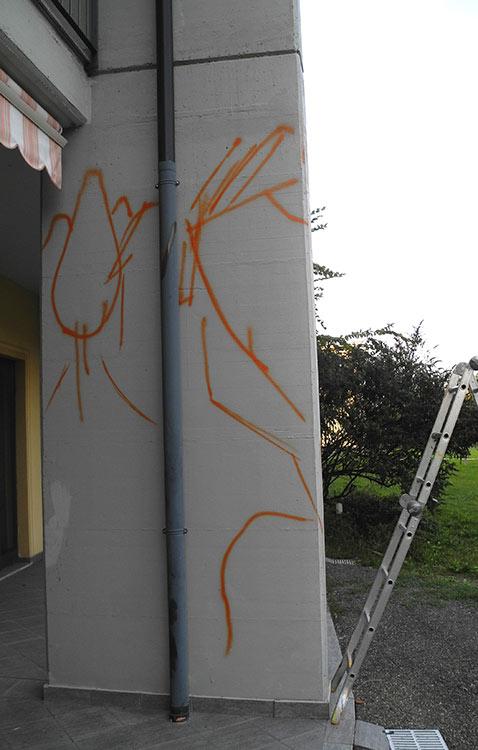 decorazione Spaesata alla Residenza Lisino, lavori in corso - franZroom.net