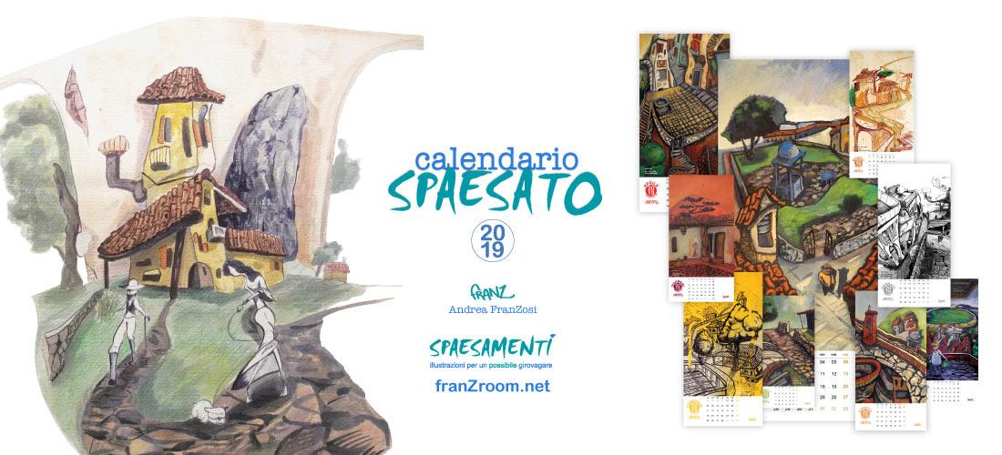Calendario Spaesato 2019 - Andrea Franzosi, franZroom.net