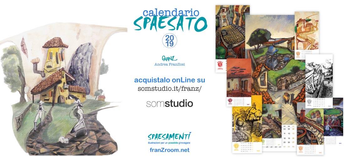 Calendario Spaesato 2019, acquistalo onLine - Andrea Franzosi, franZroom.net