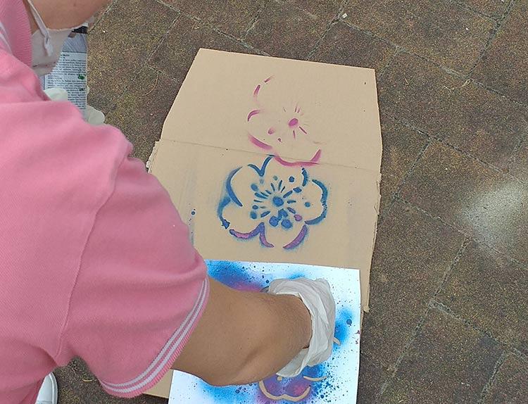 Laboratorio di Street Art Comunità Arca - franZroom.net