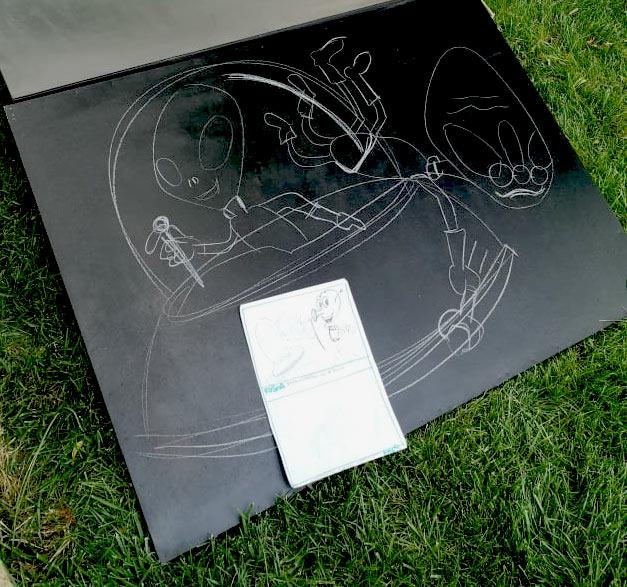 Alieni e strumenti musicali -pannelli per cameretta - disegni in corso, franZroom.net